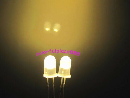 New 5mm Warm White Diffused Bright Round LED Leds Light Free Shipping 50pcs