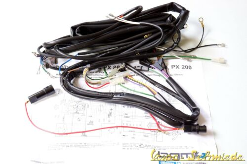 Vespa High Quality Faisceau-PX 80-200 Vieux Avec Batterie /& avec clignotants