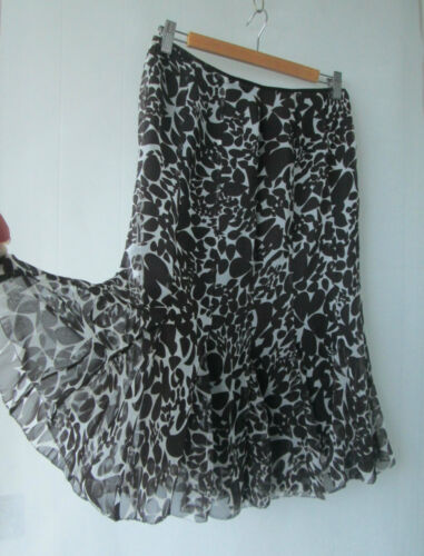 Panel Brown Cream Lamerton Skirt Closing Down Sz Jane Sale 8 qBORPA