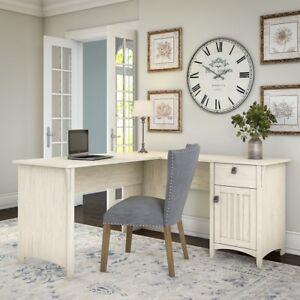 Wondrous Details About Antique White Computer Desk L Shape Storage Home Office Casual Modern Furniture Inzonedesignstudio Interior Chair Design Inzonedesignstudiocom