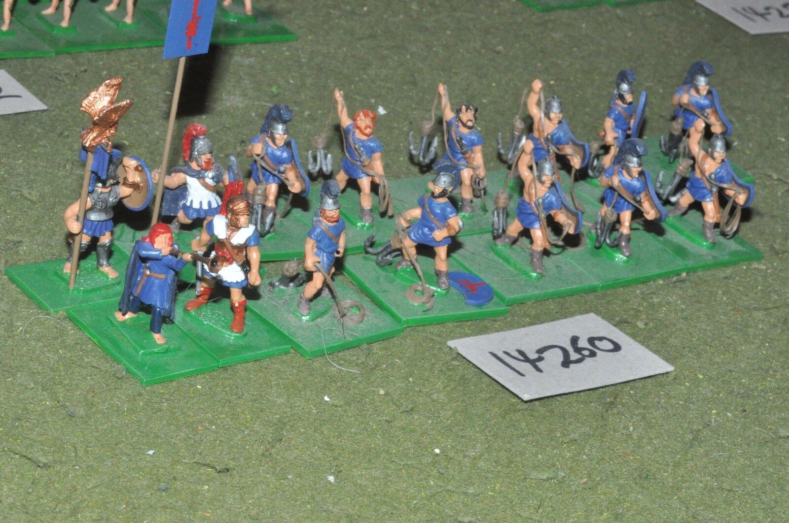 25mm classical   greek - ancient sailors 15 figs - inf (14260)