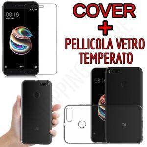 CUSTODIA-COVER-TPU-per-XIAOMI-MI-A1-XIAOMI-MI-5X-PELLICOLA-VETRO-TEMPERATO