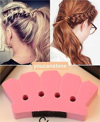 Wonder DIY Hair Braid Queue Plait Braider Twist Style Beauty Tool Holder Sponge