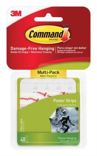 Tiras de comando 17024-VP 48 Conde pequeñas tiras de cartel Command ™ Pack Ahorro