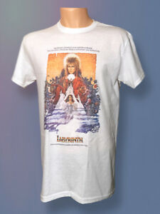 9396d6c6b David Bowie Labyrinth Movie T Shirt Vintage Retro Jim Henson Graphic ...