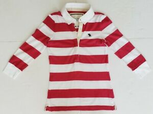 NWT-ABERCROMBIE-WOMENS-STRIPED-POLO-T-SHIRT-S-M-110