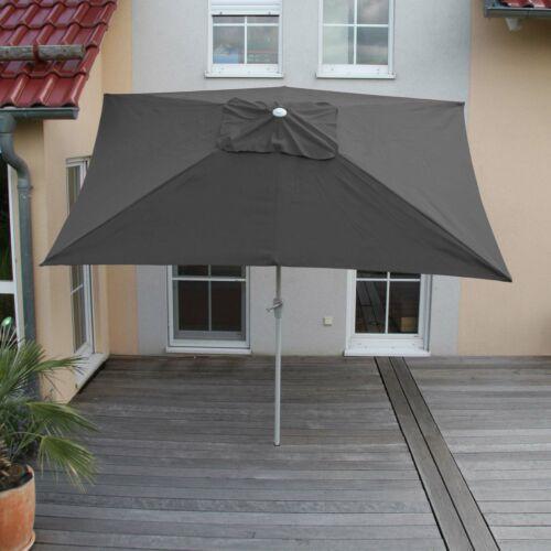 Alu sombrilla parasol jardín n23 inclinable 2x3m inoxidable antracita rectangular