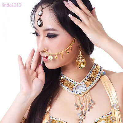 New Belly Dance Costume Accessories India Dancing Jewelry Nose Chains