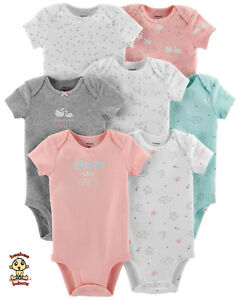 Carter-039-s-Bodysuits-7-Pack-Short-Sleeve-Set-Newborn-Size-Authentic-amp-Brand-New
