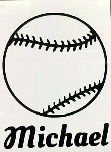 Color-amp-Size-Personalized-Baseball-Softball-Name-Vinyl-Decal-Sticker-Car-Window