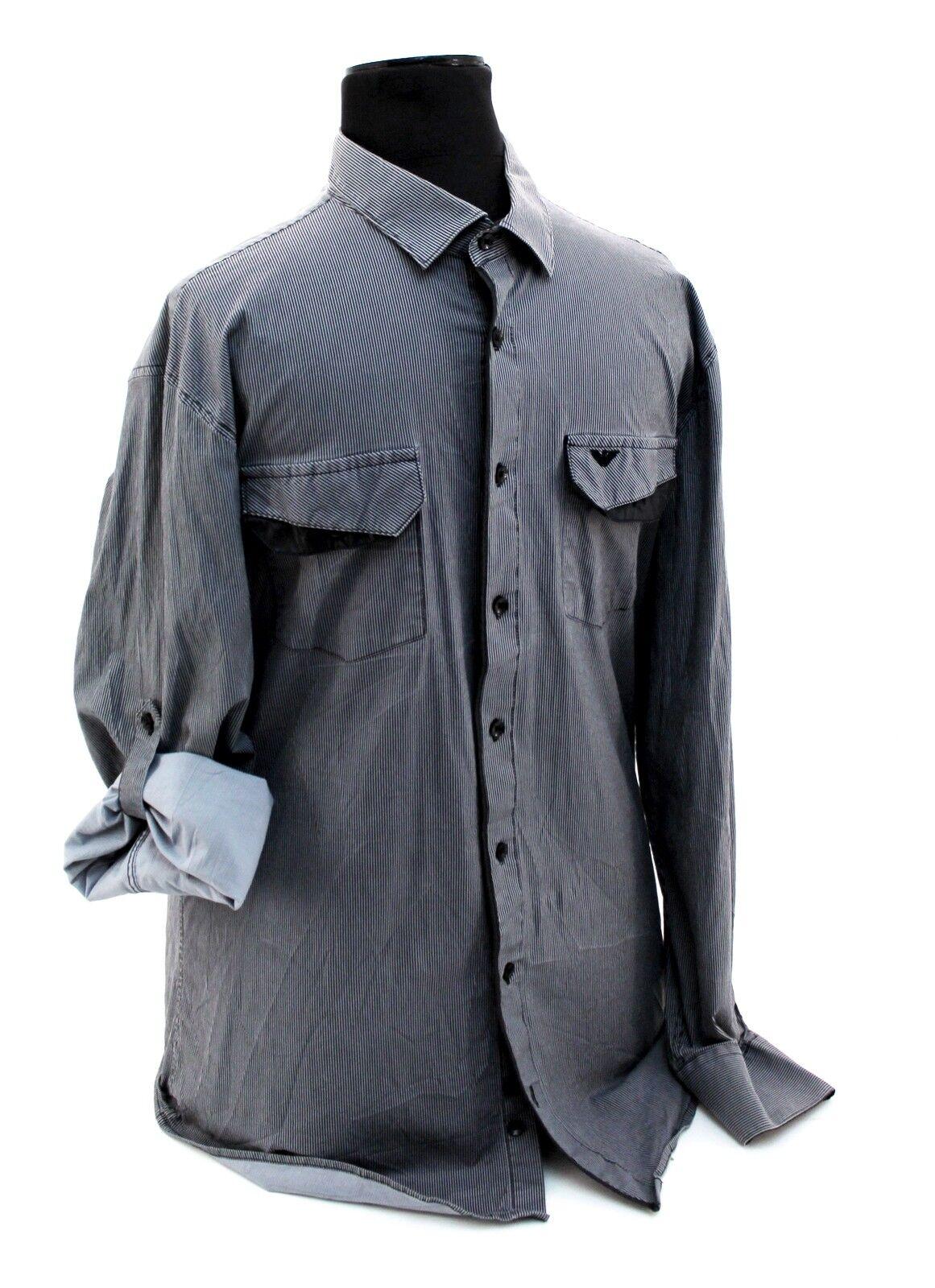 Herren Hemd Arman Oberhemd Langarm Baumwolle schwarz gestreift gestreift gestreift Gr. 3XL   | Starke Hitze- und Abnutzungsbeständigkeit  | Exquisite (in) Verarbeitung  | Qualität  4594e4