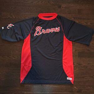 Atlanta Braves Stitches Athletic Gear Shirt Mens Size M Sewn Ebay