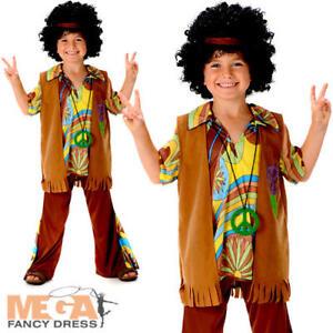Image is loading Boys-Hippie-Fancy-Dress-1960s-70s-Groovy-Childs-  sc 1 st  eBay & Boys Hippie Fancy Dress 1960s 70s Groovy Childs Childrens Kids Hippy ...