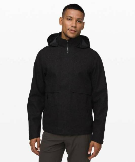 Lululemon Men's Storm Break Rain Jacket Wool HBLK ...