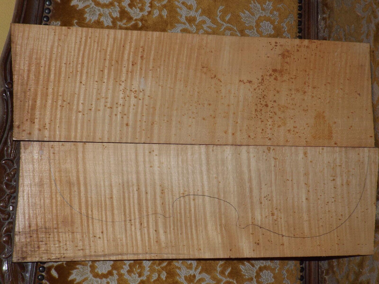 Tonholz, Tonewood, aus Nachlass, Besteens geflammter lilaboden, old lila back