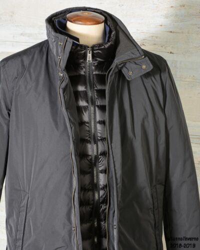 Down Oam417 Coat Nero Add Inner Cappotto Uomo Trench qnSp11