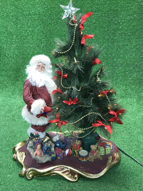 "Department Dept 56 Santa 20"" Tall Fiber Optic tree With Presents Light Up $249"