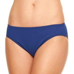 85d26caed30 Image is loading Chaps-Navy-Swim-Hipster-Bikini-Bottoms-Swimwear-Women-