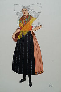 -2-5-30 Gravure Costume De Plzen Tchécoslovaquie Prix Le Moins Cher De Notre Site