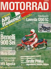 Motorrad 14 79 Benelli 900 Sei Gori GS 50 Laverda 1200 SC Suzuki GS 400 EN 1979