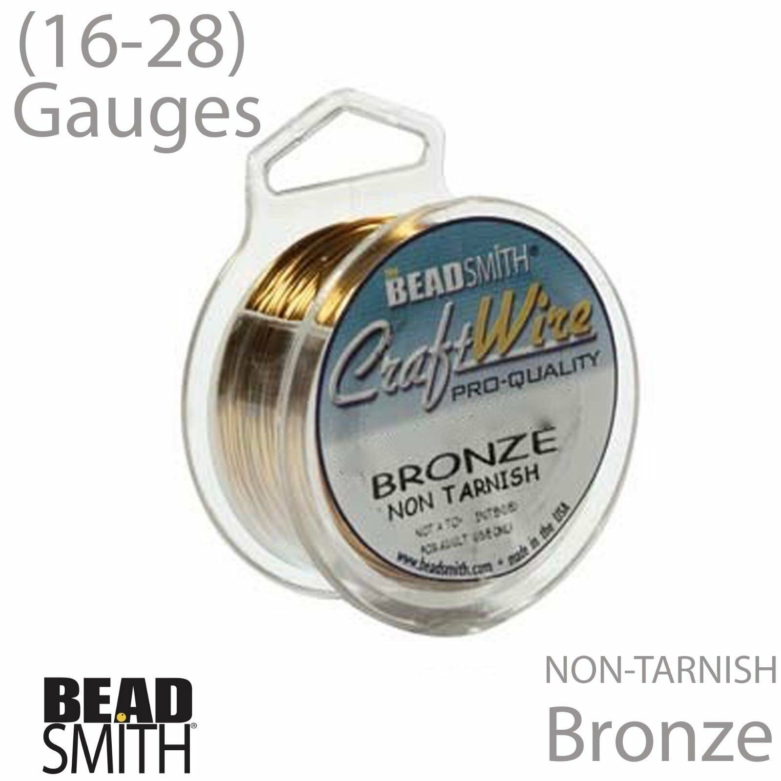 28 Gauge BEADSMITH Craft Wire 24 18 22 Or Rose BEADSMITH fil 16 20 26