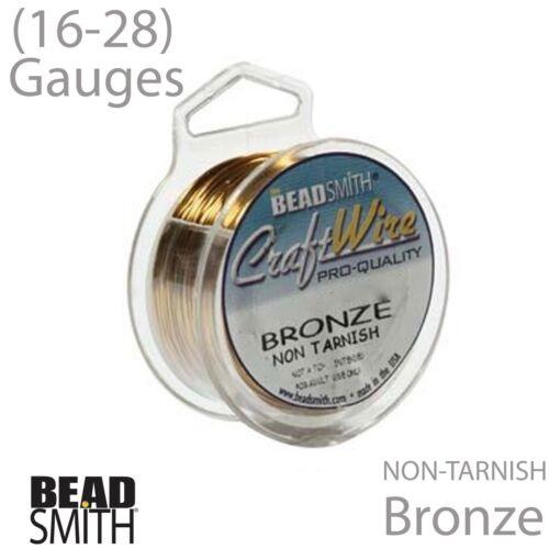 20 28 Gauge Bronze Wire 26 18 24 22 Bronze BeadSmith Craft Wire 16