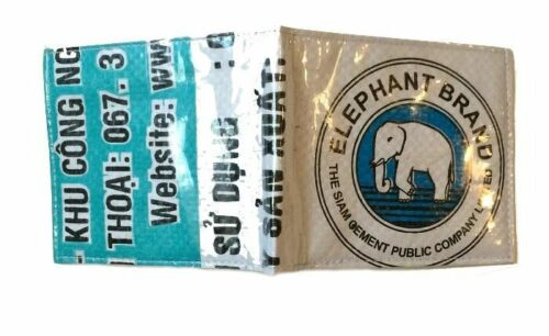 Elephant Brand Recycled Cement Bag Mans Wallet Fair Trade