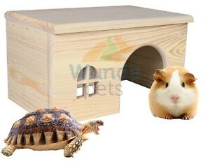 QUALITY-RAT-GUINEA-PIG-TORTOISE-WOOD-CAGE-VIVARIUM-HIDE-HOUSE-HUTCH-28C-61262