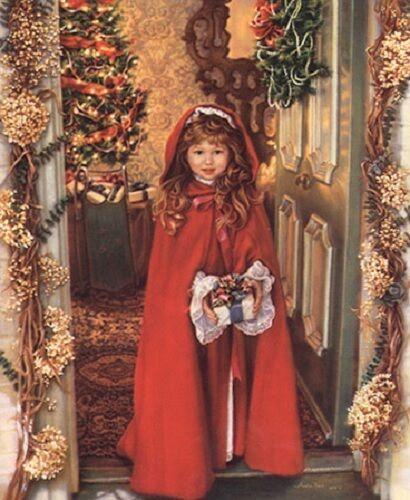 Sandra Kuck MERRY CHRISTMAS 20x16 open edition unframed holiday art OUT OF PRINT