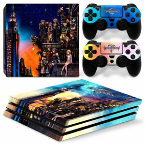 Video Game Accessories Kingdom Hearts Vinyl Skins Decals Stickers Set For Ps4 Pro Consoles Controllers A Great Variety Of Goods Faceplates, Decals & Stickers