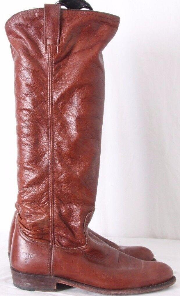 Frye Dorado Knee High Soft Slouch Plain Round Toe Riding Boots Women's US 8.5