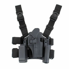 Tactical Right Drop Leg Thigh Pistol Mag Holster For GLOCK 17 19 22 23 31 32