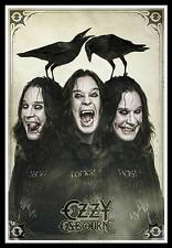 """OZZY OSBOURNE FLAGGE / FAHNE """"THREE FACES"""" POSTERFLAGGE"""