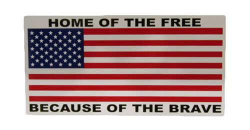 Wholesale Lot of 6 Home of the Free Because of the Brave Decal Bumper Sticker