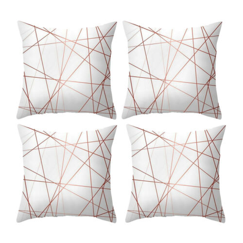"""Set of 4 Mystery Line Soft Cushion Covers 18/"""" 45cm FREE /& FAST POST"""