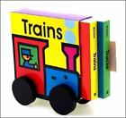 Trucks and Trains Board Book Set by Byron Barton (1999, Other)