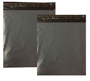 Extra-Large-Strong-Grey-Coloured-Plastic-Mailing-Post-Poly-Postage-Bags-Selfseal