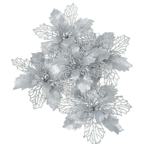 """5pc 7/"""" Christmas Tree Hollow Artificial Flower for Wedding Party Xmas OrnamenD/_N"""