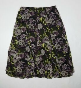 9cb961f80274c Christopher and Banks Womens Skirt Large Pull On Full Length Floral ...