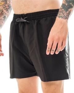 Nike 5 VOLLEY Logo Costume da Bagno Shorts pantaloncini Nero mare piscina nuot