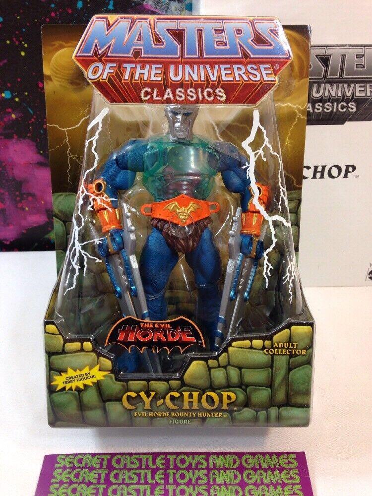 CY-CHOP Masters of the Universe classeeics MOTU MOC  cifra Sealed He-uomo  omaggi allo stadio