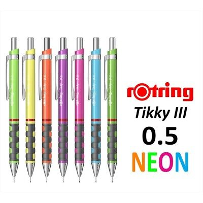 Set of 3 Rotring Tikky Mechanical Pencils 0.7 With Lead Refills /& Erasers
