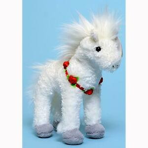 Hollyhorse White Christmas Horse with Roses Ty Beanie Babies MWMT Retired