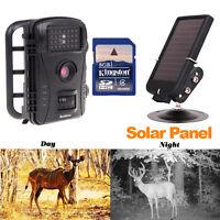 Rd1003 8gb Pir Night Vision Ir Game Hunting Trail Security Camera+solar Battery