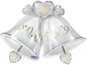 WEDDING-BELLS-BALLOON-35-034-WEDDING-ENGAGEMENT-BELLS-FOIL-ANAGRAM-BALLOON