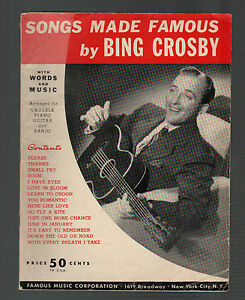 Songs-Made-Famous-by-Bing-Crosby-Fifteen-Songs-Sheet-Music