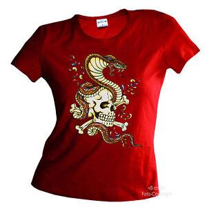 motard-tatouage-tete-de-mort-femmes-t-shirt-pour-fille-7189