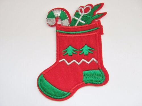 """3 1//4/"""" Ropa De Navidad Sombrero Crafts Medias de Navidad Hierro en apliques de Parche 8 Cm"""