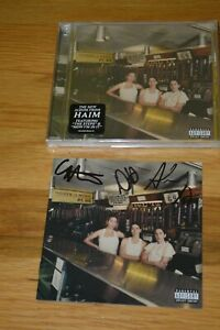HAIM-Autographed-034-Women-In-Music-Part-III-034-CD-with-COA-Entire-Band