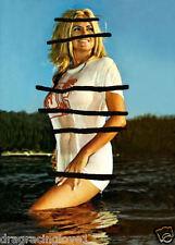 """Linda Vaughn """"Miss Hurst Golden Shifter"""" """"TIGHT"""" WET """"T"""" Shirt Beach PHOTO!"""
